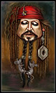 Click to view Jack Sparrow caricature (Pirates of the Caribbean - Johnny Depp.)