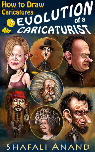 Evolution of a Caricaturist - Cover Image - Kindle Store - A Book to Learn How to Draw Caricatures