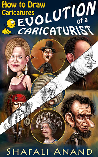 """Evolution of a Caricaturist - How to Draw Caricatures"" available as a Kindle eBook on Amazon."