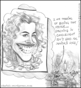 The Caricature of Julia Roberts the Pretty Woman whose smile could save the little mouse's eyesight.