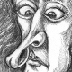 Scientist Isaac Newton, Apple, and The laws of gravitation.
