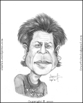 Caricature, Cartoon, Sketch, or Portrait of Shahrukh Khan, SRK, or King Khan of Indian Cinema, Bollywood!