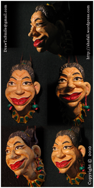 The caricature, cartoon, sculpture, 3D image of an egyptian harlot.