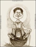Cartoon, Caricature, Portrait, Sketch, Drawing of Little Master, Master Blaster, Sachin Tendulkar, World's greatest batsman!