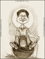 Cartoon, Caricature, Portrait, Sketch, Drawing of Little Master, Master Blaster, Sachin Tendulkar, World's greatest batsman!