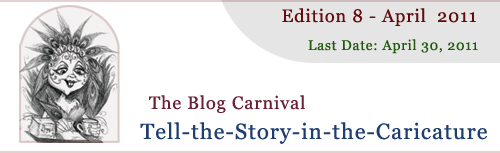Header for Story in the Caricature Blog Carnival Contest for fiction writers