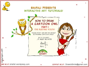 How to draw the cartoon of a young owl.