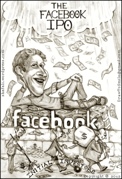 caricaturecartoon mark zuckerberg and facebooks ipo why should he be the one shafalis caricatures portraits and cartoons