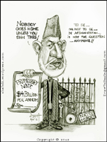 President Hamid Karzai of Afghanistan Caricature Icon