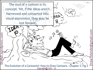 The Evolution of a Cartoonist -A Book on How to Draw Cartoons - Chapter 1, Fig 2 - The Stronger Half of a Cartoonist - The Conceptualizer