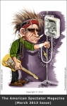 Cartoon Caricature of Keith Richards - Guitarist of the Rolling Stones rock band - done for the American Spectator Magazine
