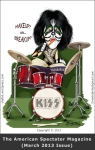 Caricature/Cartoon of Peter Criss Painted for the American Spectator Magazine.