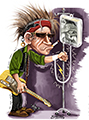 Icon Keith Richards caricature