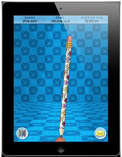 Pencil Knight - Game Screenshot - Floral White Pencil