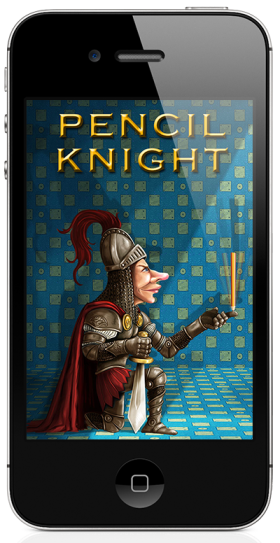 Pencil Knight - The iPad, iPhone tilting game of balancing pencils on your finger tip - opening screen on the iPhone.