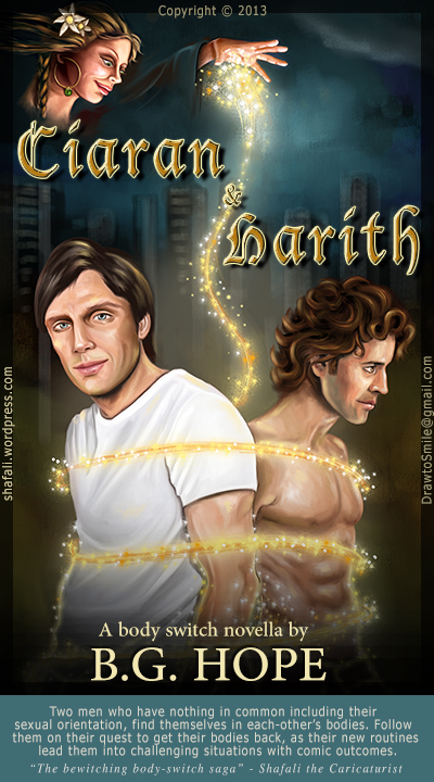Book cover art for the novel Ciaran and Harith -fantasy book - by BG Hope
