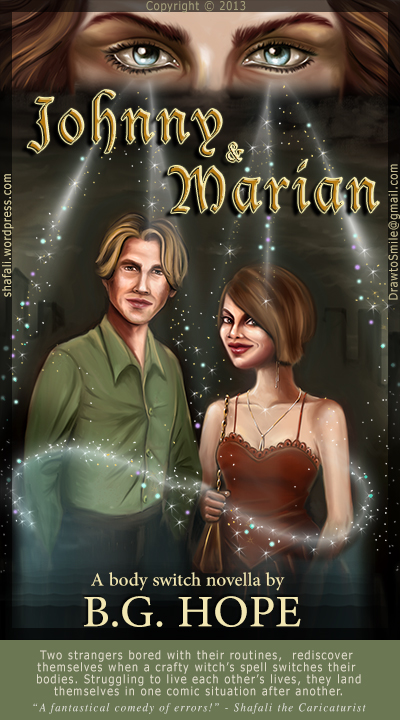 Illustration for Novel Cover (Cover Art) - for Johnny and Marian by B. G. Hope.