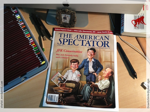 The American Spectator Magazine Issue October 2013 on my Desk.
