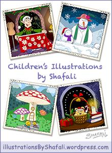 Click to visit Shafali's Blog on Children's Illustrations.