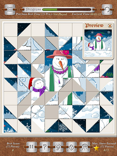 Bigsaw Xmas - Screenshot - Snowmom and Snowson - A New Kind of Jigsaw for Picture Puzzle Lovers