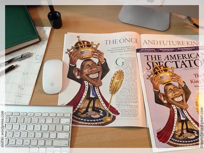 American Spectator Obama Crowns himself - Issue April 2014 on my desk