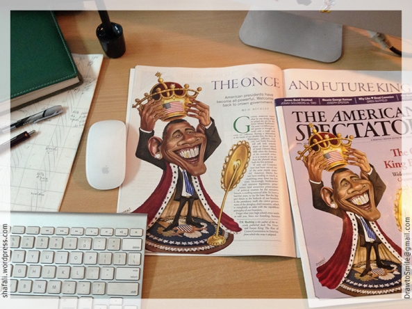 American Spectator Obama Crowns himself - Issue April 2014 on my desk