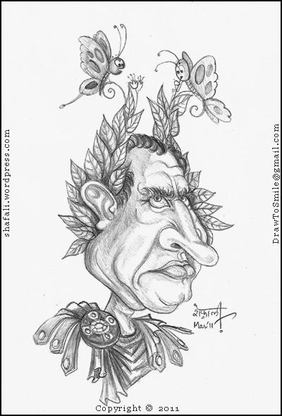 Caricature of Julius Caesar the Roman General by Shafali