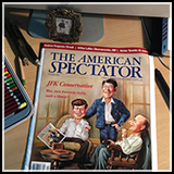 Caricature composition - Magazine Cover Art of US Presidents - Kennedy, Reagan, and Coolidge. Illustration done for The American Spectator Magazine.