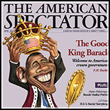 Caricature of US President Barack Obama Crowns himself - Cover Illustration done for American Spectator Magazine