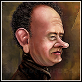 Color Caricature of Tom Hanks.