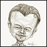 Caricature Leonardo di Caprio - Hollywood Actor.