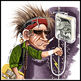 Caricature - Keith Richards - The Rockstars - Inner Illustration for the American Spectator Magazine.