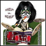 Caricature/Cartoon – Peter Criss of the Kiss group - The Rockstars - Illustrated for the American Spectator.