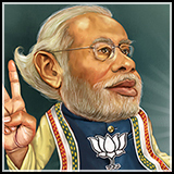 Caricature - Narendra Modi - Prime Minister of India.