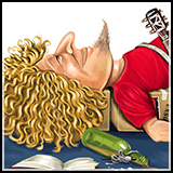 Caricature – Sammy Hagar - Inner Illustrations of Rockstars for The American Spectator Magazine.