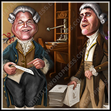 Caricatures of Rush Limbaugh and Sean Hannity - Inner Illustration for the American Spectator Magazine.