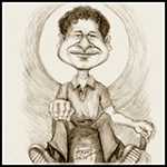 Icon Caricature of Sachin Tendulkar.