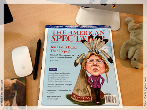 Elizabeth Warren Caricature on the Cover of The American Spectator Magazine - Cover Illustration Shafali