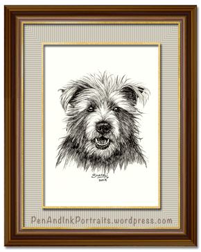 Portrait of the Cairn Terrier Dog - Pet and Wildlife Portraits in Pen and Ink by Shafali