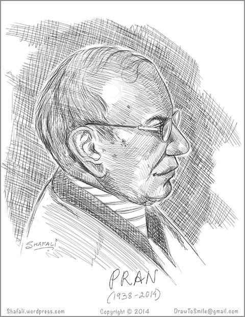 cartoonist-pran-portrait-sketch-of-the-comic-artist-creator-chacha-chaudhary-shrimatiji-saboo