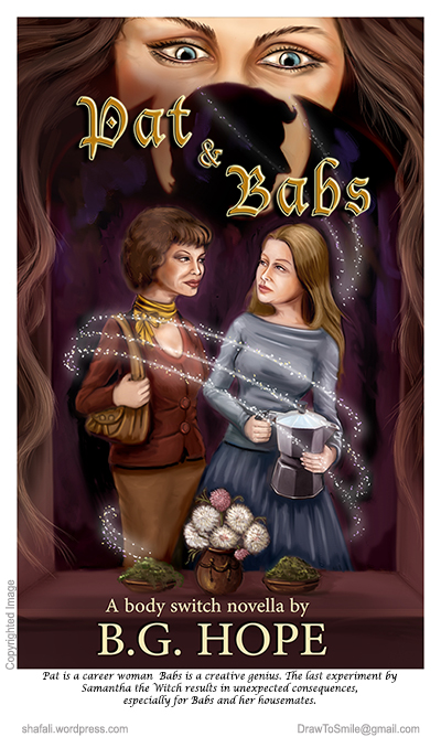 Cover Art for Novel, Novella - Pat and Babs - Bodyswitch series by Fantasy author B. G. Hope.