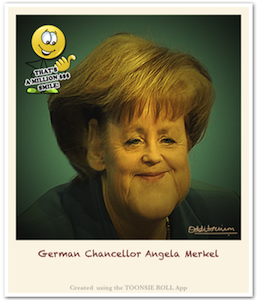 Caricature Angela Markel - Caricature Created using Toonsie Roll App - A Free Caricatures/Cartoons maker iOS App for iPhone and iPad