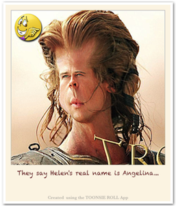 Caricature Brad Pitt - Caricature Created using Toonsie Roll App - A Free Caricatures/Cartoons maker iOS App for iPhone and iPad