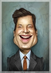 Caricature Portrait Jimmy Fallon Tonight Show