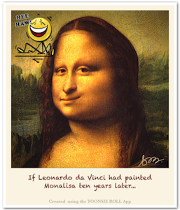 Caricature Mona Lisa - Caricature Created using Toonsie Roll App - A Free Caricatures/Cartoons maker iOS App for iPhone and iPad