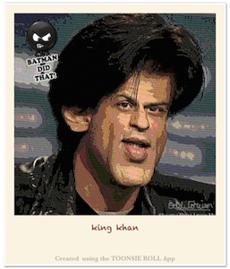Caricature Shahrukh Khan - Caricature Created using Toonsie Roll App - A Free Caricatures/Cartoons maker iOS App for iPhone and iPad