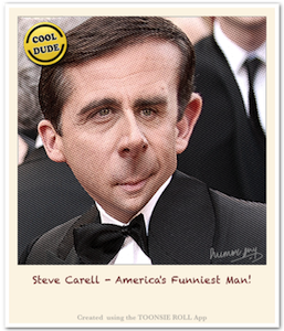 Caricature Steve Carell - Caricature Created using Toonsie Roll App - A Free Caricatures/Cartoons maker iOS App for iPhone and iPad