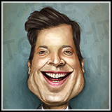 Caricature: Jimmy Fallon - Host of The Tonight Show