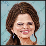 Caricature - Selena Gomez Caricature for a Poster Collection. Digitally Painted.