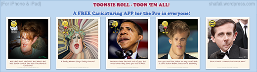 Toonsie Roll - A realistic, intuitive, caricaturing app for iPhone and iPad.